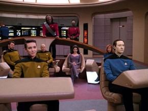 The 1701-D Crew With Classic Uniform Color Scheme