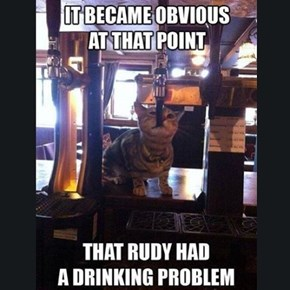 The Problem Is He Can't Reach the Tap Handle