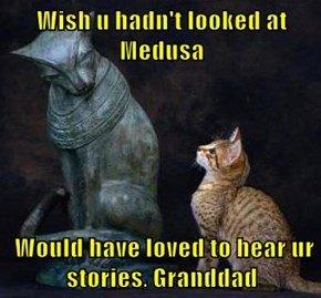 Wish u hadn't looked at Medusa   Would have loved to hear ur stories, Granddad