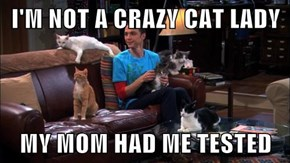 I'M NOT A CRAZY CAT LADY  MY MOM HAD ME TESTED