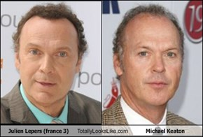 Julien Lepers (france 3) Totally Looks Like Michael Keaton