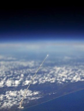 Rocket Launch As Seen from Space