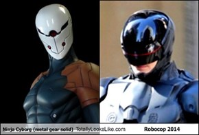 Ninja Cyborg (metal gear solid) Totally Looks Like Robocop 2014