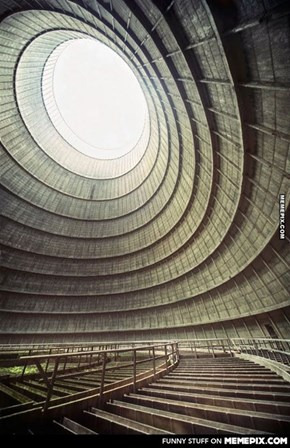Abandoned Power Plant Cooling Tower