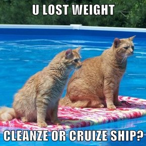 U LOST WEIGHT  CLEANZE OR CRUIZE SHIP?