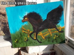 The Black ghost horse