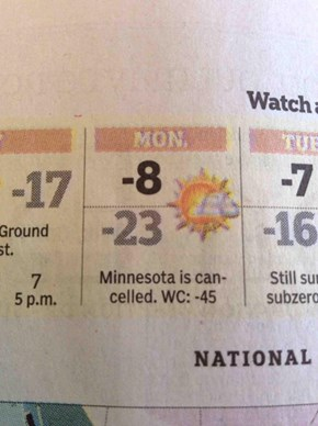 Winter Hits Minnesota Hard