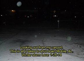 Winter storm Leon 1-28-14 in Mobile, AL.