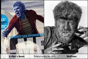 X-Men's Beast Totally Looks Like Wolfman