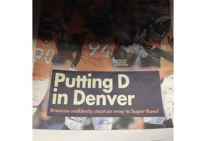 The Broncos Probably Weren't Hoping for This During Superbowl Week