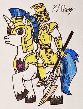 Warrior Of Light On Horseback