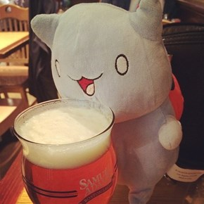 CATBUG! Loves to Drink