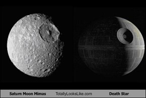 Saturn Moon Mimas Totally Looks Like Death Star