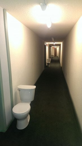 Bathrooms Just Down The Hall