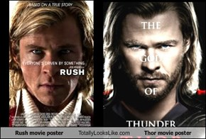 Rush movie poster Totally Looks Like Thor movie poster