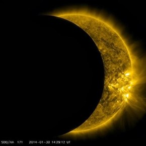 NASA captures this mornings Solar Eclipse