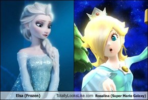 Elsa (Frozen) Totally Looks Like Rosalina (Super Mario Galaxy)