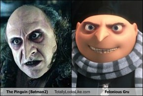The Pinguin (Batman2) Totally Looks Like  Felonious Gru