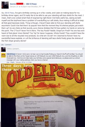 Old El Paso Shows Some Love