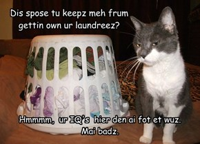 Dis spose tu keepz meh frum gettin own ur laundreez?