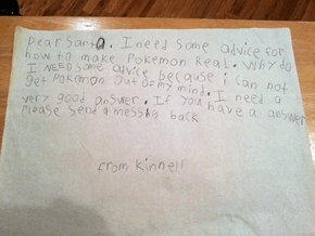 Kid Realizes Pokémon Aren't Real, Writes a Sad Letter to Santa
