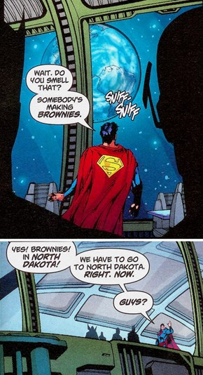 What Color Kryptonite Gives Him The Munchies?