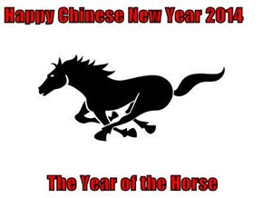 Happy Chinese New Year 2014  The Year of the Horse