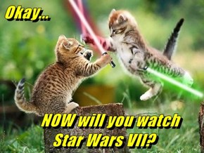 Okay...      NOW will you watch        Star Wars VII?
