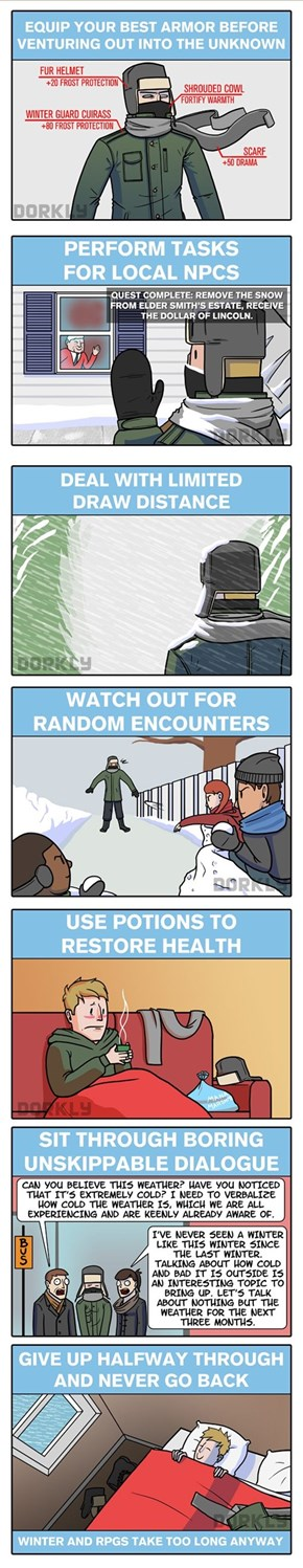 Winter is Like Being in an RPG