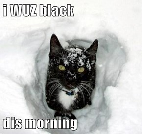 i WUZ black  dis morning