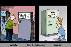 gullibity Totally Looks Like stupidity