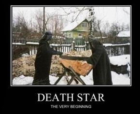 They Used Wood on the Death Star?