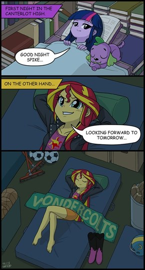 Bedrooms of Canterlot High