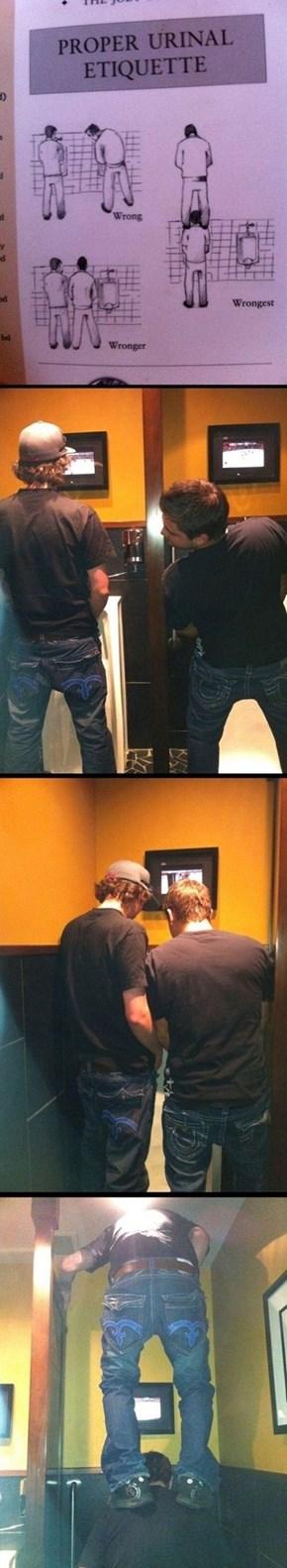 Always Follow Proper Urinal Etiquette