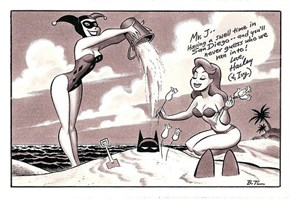 Harley Quinn's Postcard by Bruce Timm