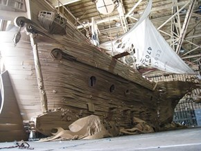 This Insane Ghost Ship is Made Entirely Out of Cardboard. It Took Five Days. FIVE.