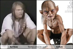 Axl Rose Totally Looks Like Gollum