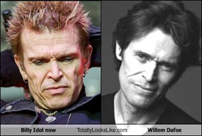 Billy Idol Now Totally Looks Like Willem Dafoe