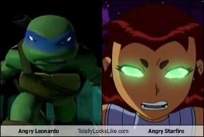Angry Leonardo Totally Looks Like Angry Starfire