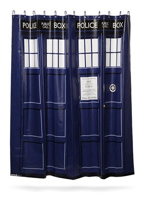 Make Sure Your Shower is Wetter on the Inside With This TARDIS Shower Curtain