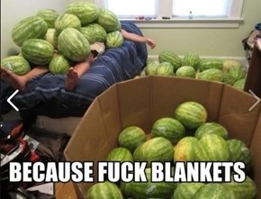 Who Needs Blankets When You Have Watermelons?