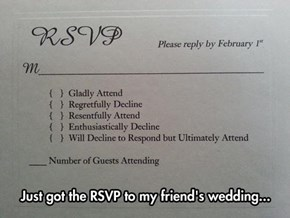 Want to Make Sure You Get a Response to a Wedding? Make Sure to Include These Options.