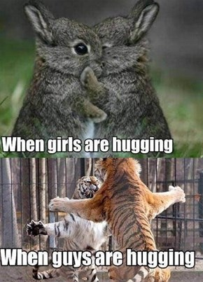 Men and Women Hug Very Differently
