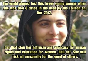 A Shining Light  for  the  World - Malala Yousafzai - Nobel Peace Prize Winner 2014