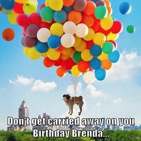 Don't get carried away on you Birthday Brenda...