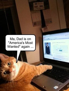 """Ma, Dad is on """"America's Most Wanted"""" again ..."""