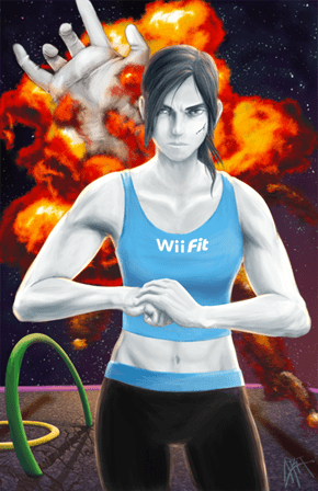 Wii Fit Trainer Isn't Messing Around