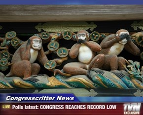 Congresscritter News - Polls latest: CONGRESS REACHES RECORD LOW
