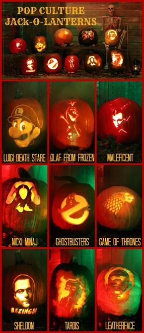 Pop Culture Jack-o-Lanterns
