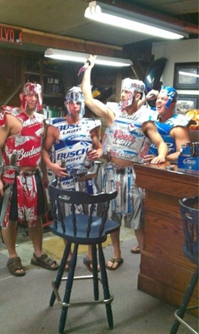 The Beer Knights, Here to Protect Your Halloween
